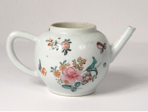 Porcelain teapot China East India family flowers rose eighteenth