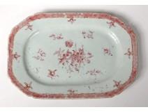 Octagonal porcelain dish China India Company Family rose Qianlong 18th