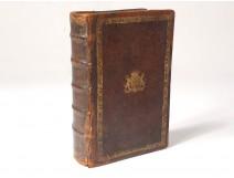 Secret Book Cache Coat of Arms Ecclesiastical Old Testament 1695 XVII