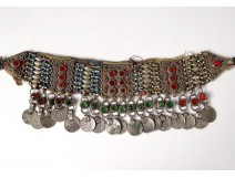 Orientalist headdress silver cabochons Pakistan Middle East twentieth