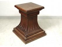 Bolster support carving pedestal carved oak statue nineteenth century