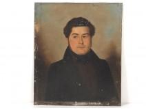 Table HSP metal portrait gentleman elegant nineteenth century
