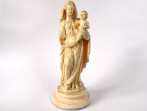 Small ivory sculpture Madonna and Child Parisian eighteenth century
