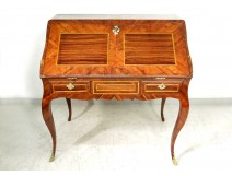 Louis XV Rosewood Inlaid Bureau Rosewood Rosewood Bronze Eighteenth