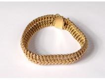 Bracelet bracelet gold solid 18 carat head eagle jewel 26,33gr twentieth