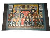 Great painting HST 21 ancestors Chinese dignitaries mandarins China nineteenth