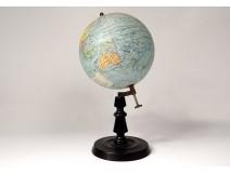 World Globe Geographer Forest Girard Barrère Paris Wood Twentieth