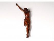 Sculpture Christ crucifix carved wood eighteenth century