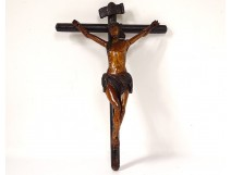 Crucifix baroque Christ cross carved wood late seventeenth century