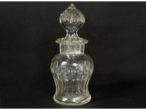 Small carafe decanter crystal bottle carved late nineteenth century