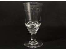 Absinthe glass blown glass model cord cut nineteenth century