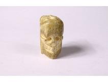Grain Rosary Carved Head Dead Christ Vanity Memento Mori Skull Nineteenth