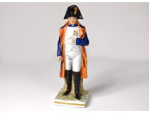 Polychrome porcelain statuette Emperor Napoleon I twentieth century