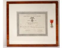 Medal Legion of Honor certificate French Republic Bergeron enamel