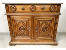 Low sideboard Louis XIII carved walnut South-West late 17th century