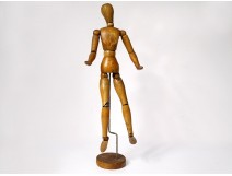 Articulated wooden dummy artist painter drawing Fine Arts XXth century