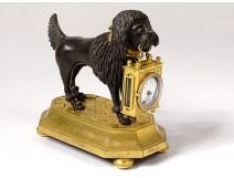 Clock gilt bronze poodle dog Berthoud Paris clock XIXth century