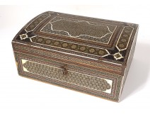 Persian box marquetry Khatam Kari wooden stars Middle East XVIIIth
