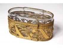 Box crystal box glass gilded brass Napoleon III nineteenth century