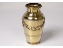 Small silver baluster vase vermeil Minerva goldsmith Boin-Taburet 121gr XIXth