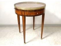 Louis XVI hot water table marquetry pink wood Napoleon III nineteenth