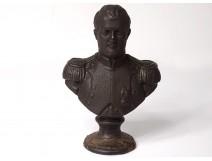 Cast iron bust sculpture Emperor Napoleon I XIXth century