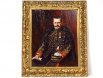 HSP painting Richard Hall portrait Captain artillery Louis Homberg XIXth