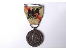 Commemorative medal Mexico Expedition Napoleon III silver ribbon 1862-63