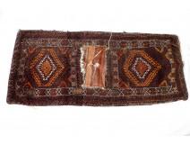 Berber knotted wool saddle pad Maghreb Morocco Persia Anatolia twentieth