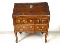 Scriban Louis XV commode walnut desk carved gilded bronze eighteenth century