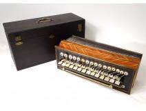 Romantic diatonic accordion rosewood mother-of-pearl brass Napoleon III nineteenth