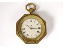 Alcove clock with gilded bronze repetition Perretton Paris 1796 XVIIIth