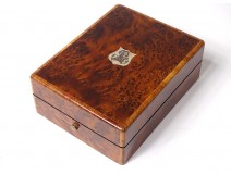 Watch holder box magnifying glass amboine monogram nacre Napoleon III nineteenth