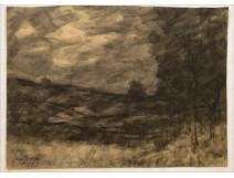 Charcoal Jura Lake Landscape by Augustus Pointelin nineteenth