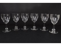 Series 6 water glasses cut crystal twentieth century