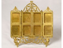 Golden brass photo frame Hivert Faubourg Saint-Honoré Paris XIX