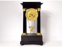 Pendulum with columns angelot escarpolette Farcot wood bronze Napoleon III 19è