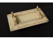 Domino box carved bone box work pontoon convict nineteenth century