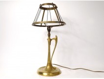 Gilt bronze lamp Art Nouveau XIXth century