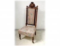 Rio rosewood armchair arms coat of arms alliance Brittany XIXth