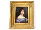 HST portrait Julie Volpelière young woman Empire stuccoed frame 1829 XIXth