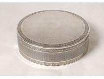 Round solid silver box Minerva goldsmith Lappara & Gabriel 271gr XXth
