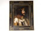 Rare HSP painting portrait King France Charles VIII Rex Galiae Amboise XVè