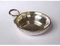 Solid silver wine taster Farmers General Angers 1789 Pellerin 60gr 18th