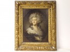HSP portrait Lady Mulgrave Cholmley from apr. Gainsborough 18th Carved Frame