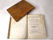 2 books History of America Robertson Panckoucke Paris 1778 XVIIIè