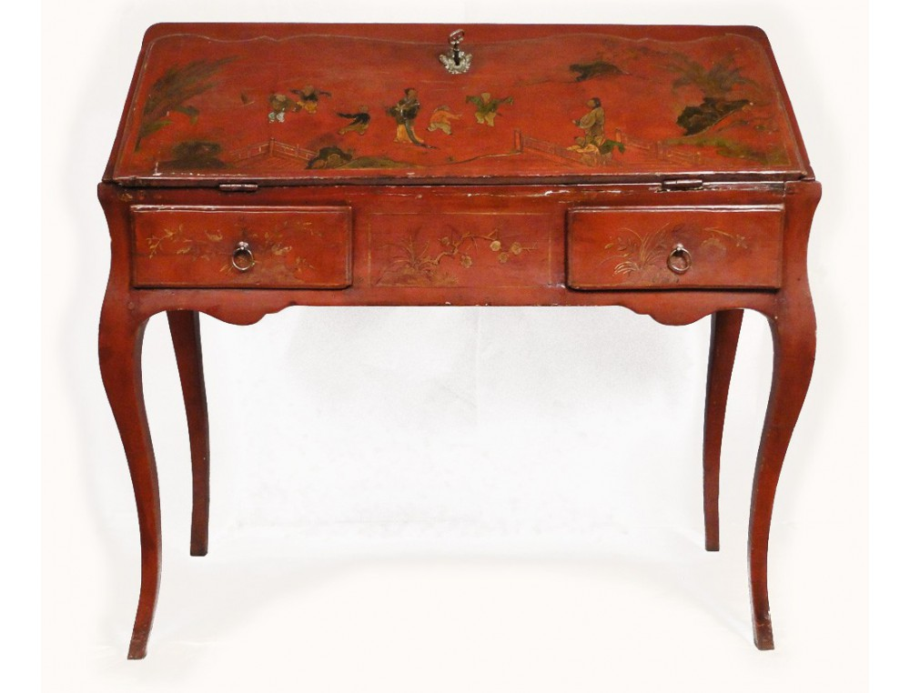 Desk Slope Chinese Lacquer 18th Loading Zoom