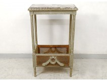 Small Louis XVI living room table lacquered wood marble planter late nineteenth