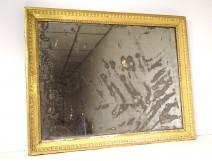 Louis XVI mirror ice gilded wood frame frieze oves mirror 8th century