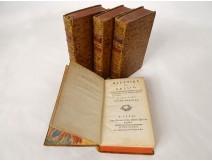 4 Tomes History of Russia M. Levesque Paris Debure Elder 1782 XVIIIth